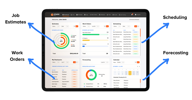 Construction management real-time data dashboard
