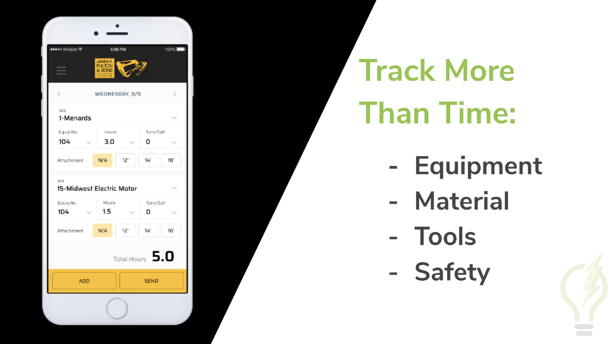 Example of construction scheduling app | SPARK Insights