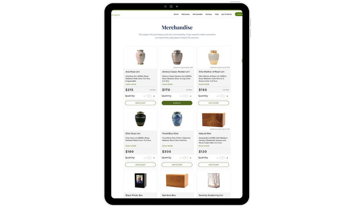 Custom e-commerce experience built by SPARK for VCS